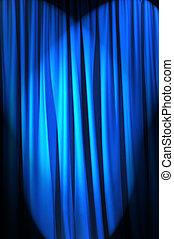 luminoso, brillantemente, concetto, teatro, tenda