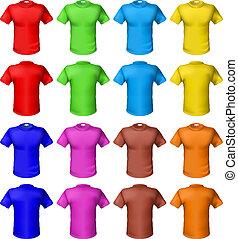 luminoso, colorido, camisas