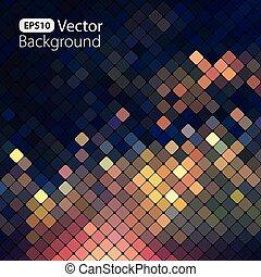luminoso, coloridos, mosaico, fundo