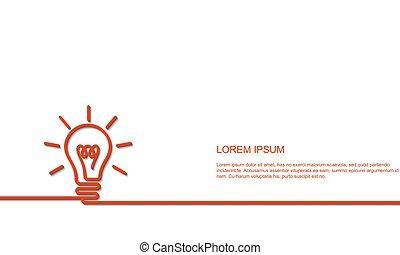 luminoso, concetto, idea