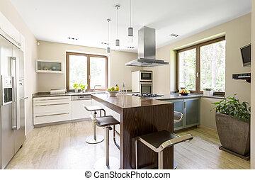 luminoso, cucina, spazioso, zona