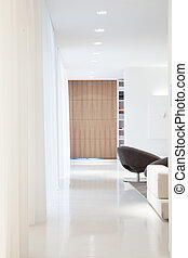 luminoso, desenho, sala, projetado