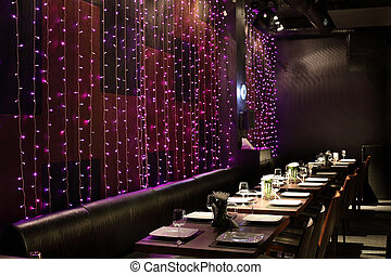 luminoso, europeo, colori, ristorante