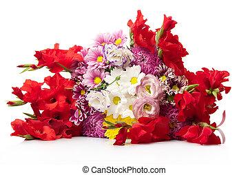 luminoso, fiori, mazzo