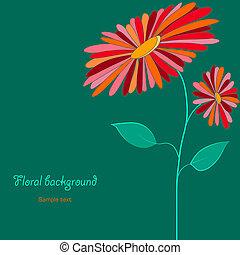 luminoso, flor