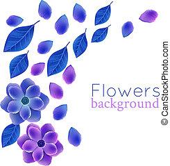 luminoso, flores