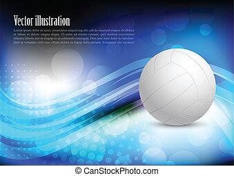 luminoso, fondo, con, palla