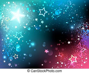 luminoso, fundo, estrelas