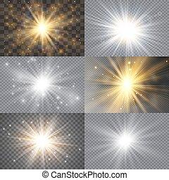 luminoso, jogo, stars.