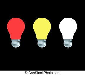 luminoso, lámparas, eléctrico
