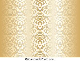 luminoso, lusso, oro, carta da parati