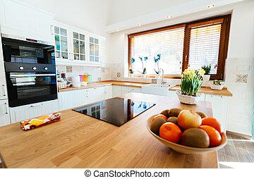 luminoso, modernos, cozinha