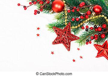 luminoso, natal, estrelas, composição