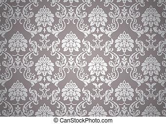 luminoso, papel parede, barroco