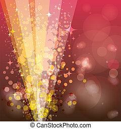 luminoso, plano de fondo, rayos, festivo