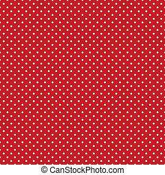 luminoso, polka, seamless, rosso, punti