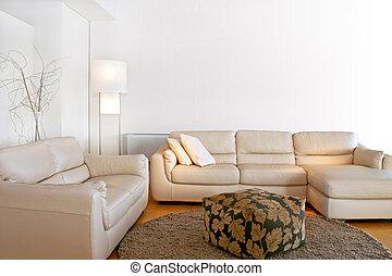 luminoso, sala de estar