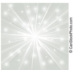 luminoso, sunburst, com, faíscas