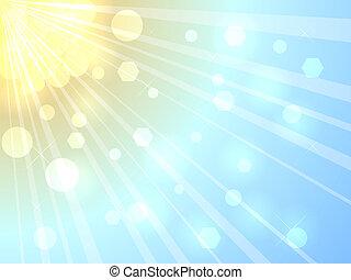 luminoso, verão, sol, fundo