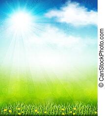 luminoso, verão, vetorial