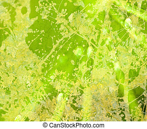 luminoso, verde, floreale, grunge, textured, astratto