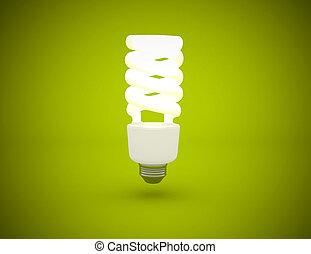 luminoso, verde leggero, fondo, bulbo