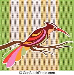 luminoso, vetorial, pássaro, ilustração