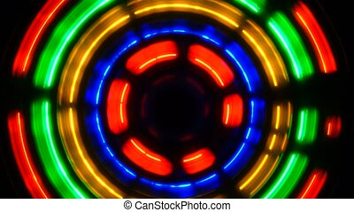 luminous abstract wheel leaving black a background