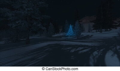 Luminous Christmas tree - Luminous Christmas Tree in the...