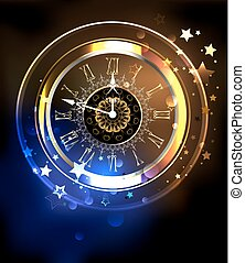 Luminous clock with stars