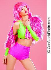 luminous - Glamorous fashion model alluring in sexy...