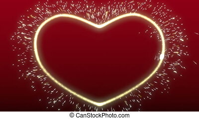 Luminous heart with sparkles
