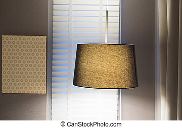 Luminous lamps modern style hanging in room