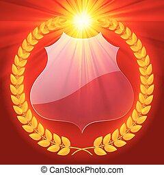 Luminous laurel wreath