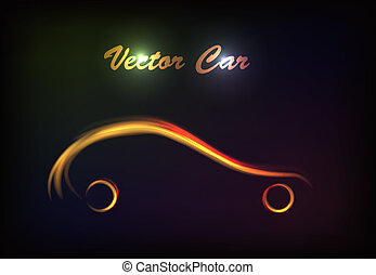 luminous silhouette car sign.