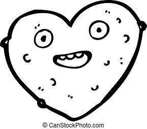 lumpy heart cartoon