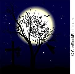 luna, árbol
