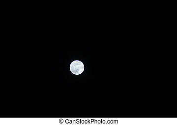 luna, è, rotondo, e, luminoso