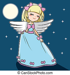 luna, angelo, ballo