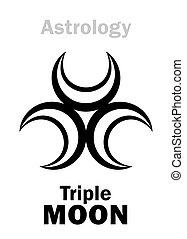 luna, astrology:, triplo