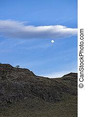 luna, azul, el, argentina, chalten, sky.