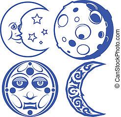 luna azules