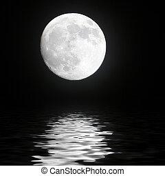 luna, en, el, espacio