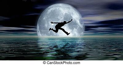 jumping moon