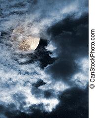 luna llena, noche