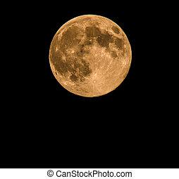 luna llena, tomado, en, 10, agosto, 2014