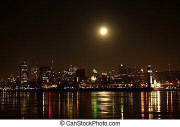 luna, lucente, su, montreal