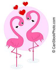 luna miele, amore, giorno, valentines