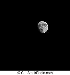 luna piena, sopra, scuro, cielo nero, notte
