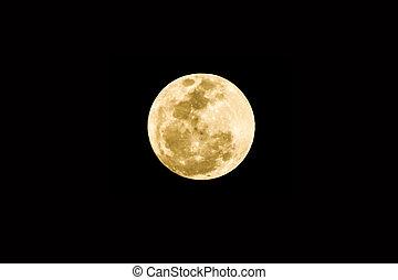 luna piena, su, il, sfondo nero